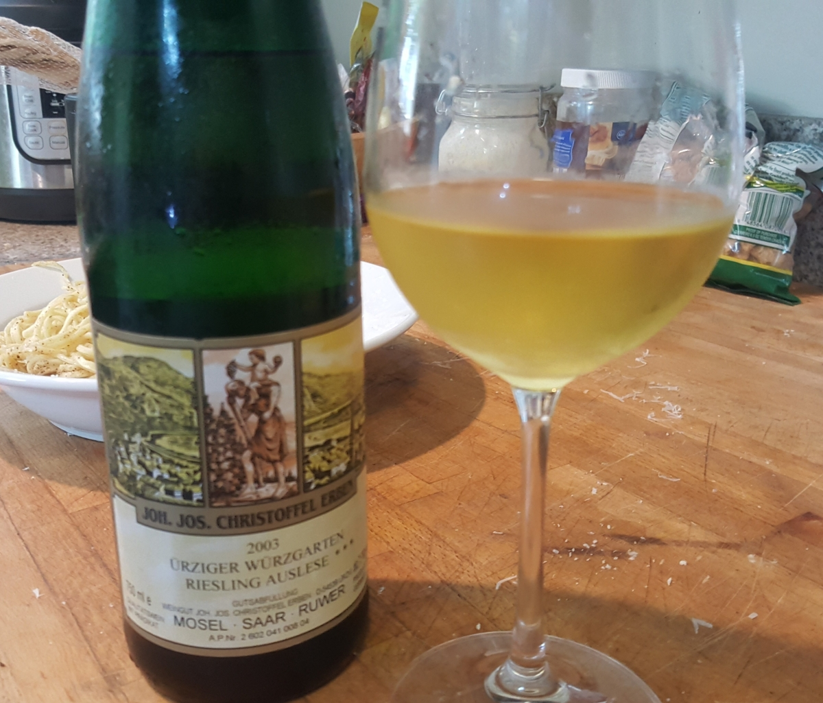 A real mouthful: The 2003 Joh. Jos. Christoffel Erben Ürziger Würzgarten Riesling Auslese ***
